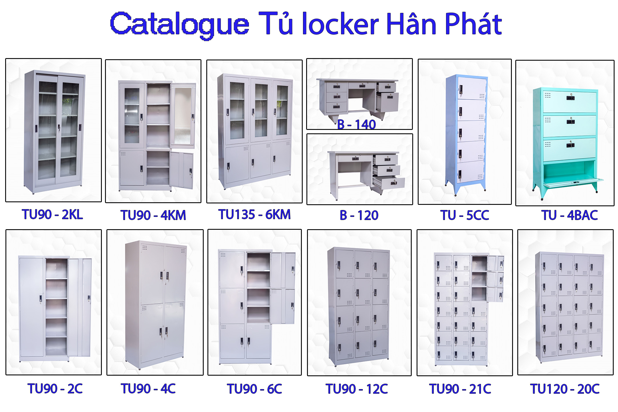 Tủ locker nhiều ngăn